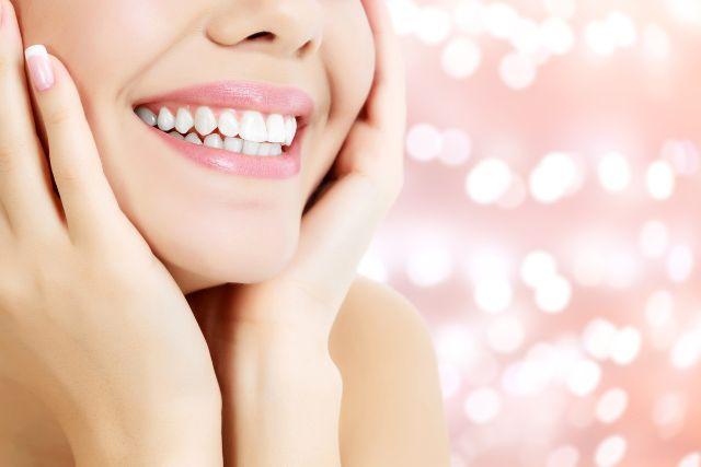 きれいな歯並びの見える笑顔