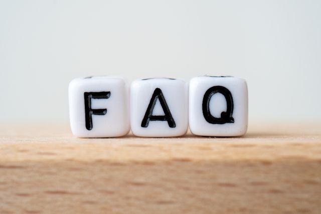 FAQと書かれたブロック